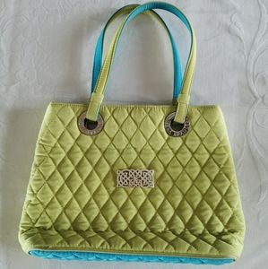 Vera Bradley Green & Blue Quilted Tote Bag
